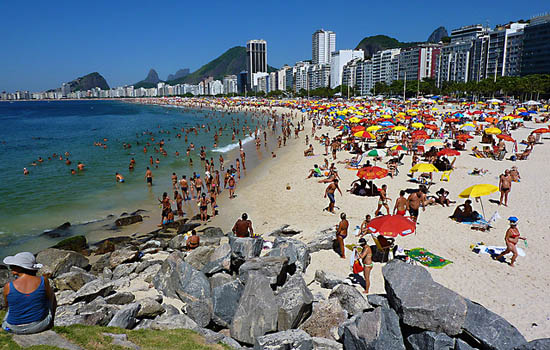Copacabana Beach is the highlight of any Visit to Rio de Janeiro