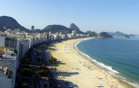 Copacabana Beach is the highlight of any Visit to Rio de Janeiro.